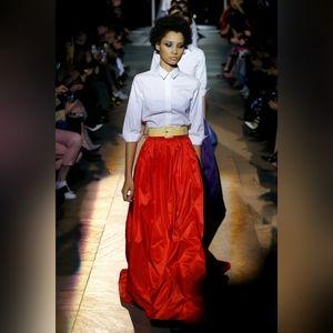 Caroline Herrera red runway skirt 8 BNWT